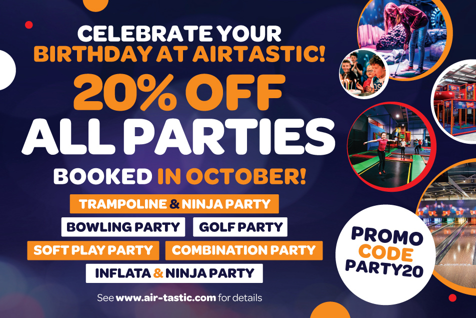 Airtastic Birthday Parties 20 Off Oct 2020 952 x 635