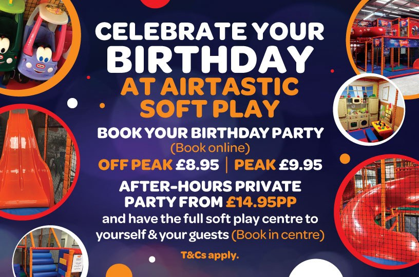 Airtastic Soft Play Birthday Offering