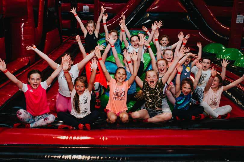 Group of Children enjoying Party at Airtastic Inflata Park
