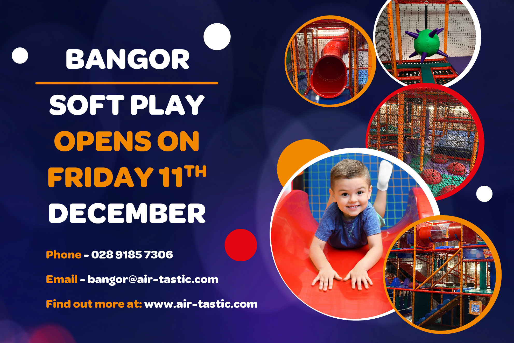 Bangor Soft Play Launch Web Graphics Banner
