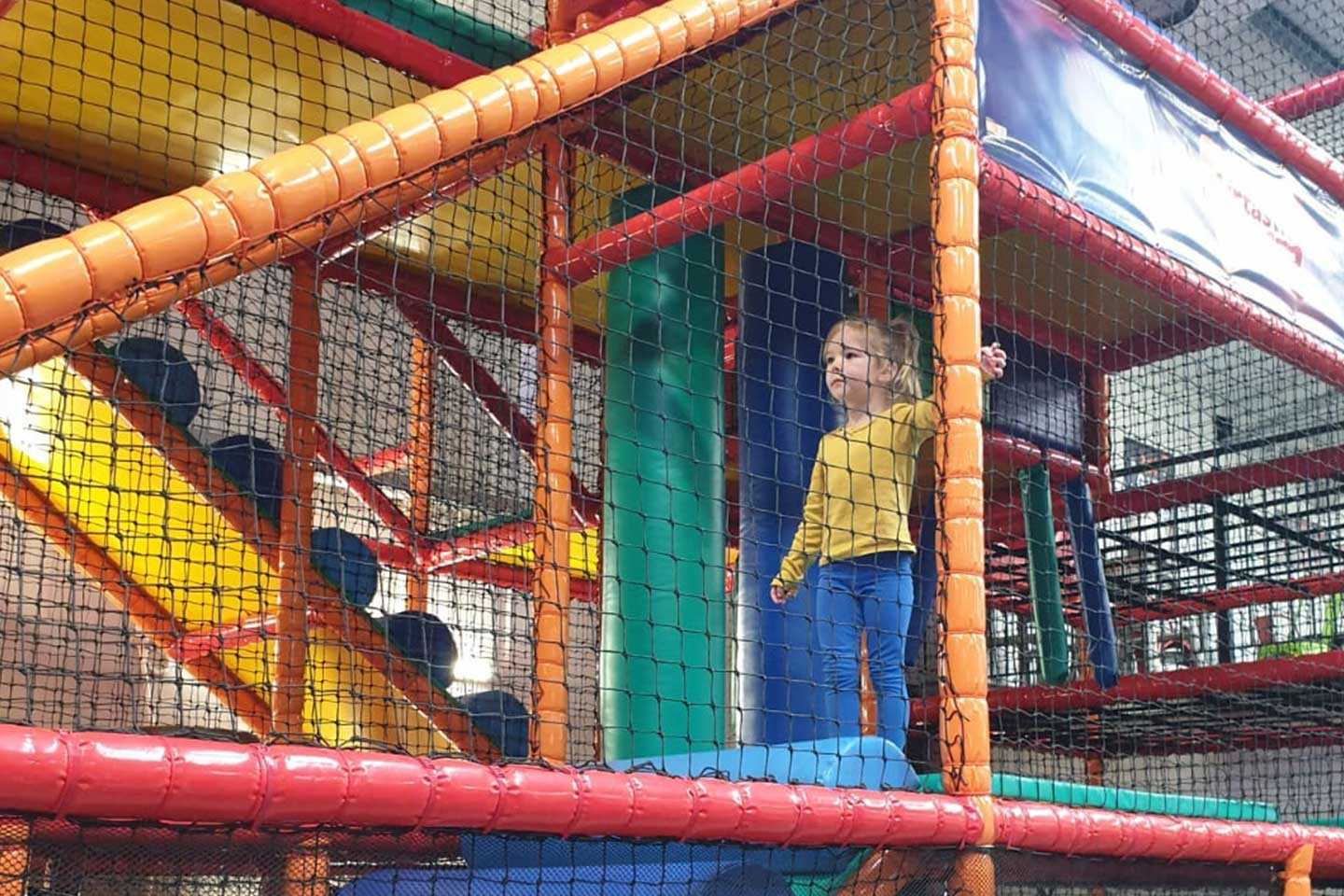 Little Girl playing in Airtastic Soft Play Frame