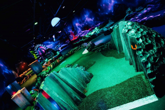 Space Scene at Airtastic Mini Golf