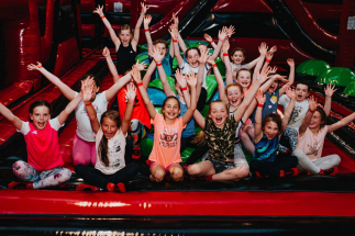 Group of kids together at Airtastic Inflatables