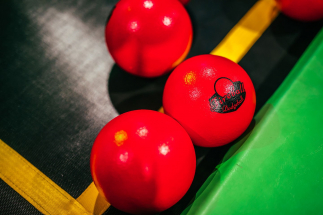 Red Balls on Airtastic Trampoline