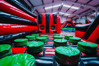 Stepping pods at Airtastic Inflata Park