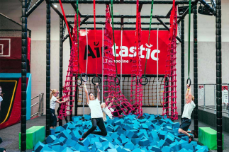 Group of Kids playing in Airtastic Ninja Park