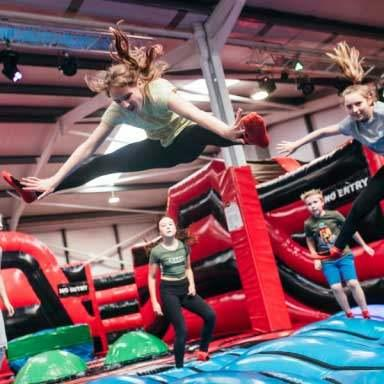 Kids bouncing at Airtastic Inflata Zone