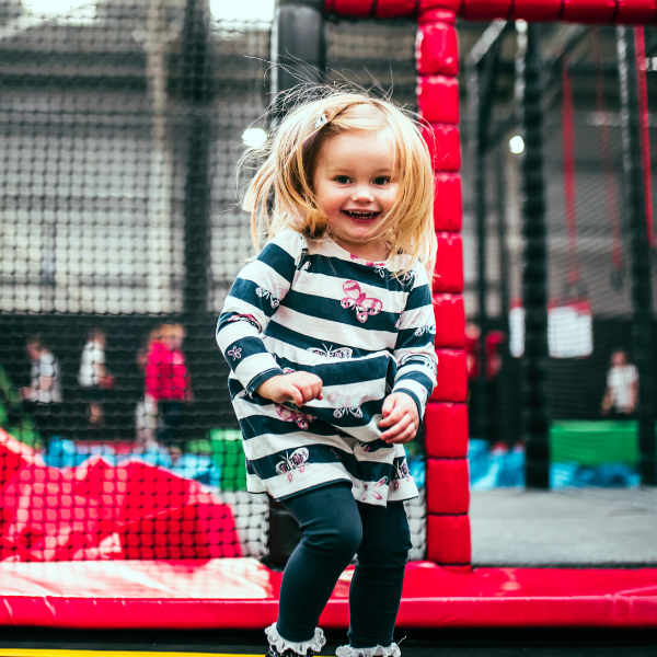 Little Girl Enjoying Airtastic Trampoline Park