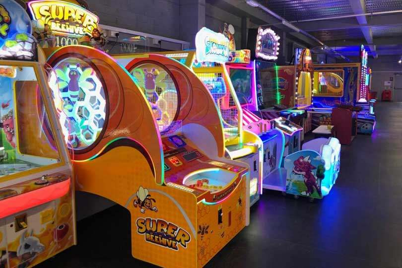 Different arcade games at Airtastic Cork