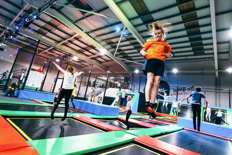 kids jumping on Airtastic trampolines