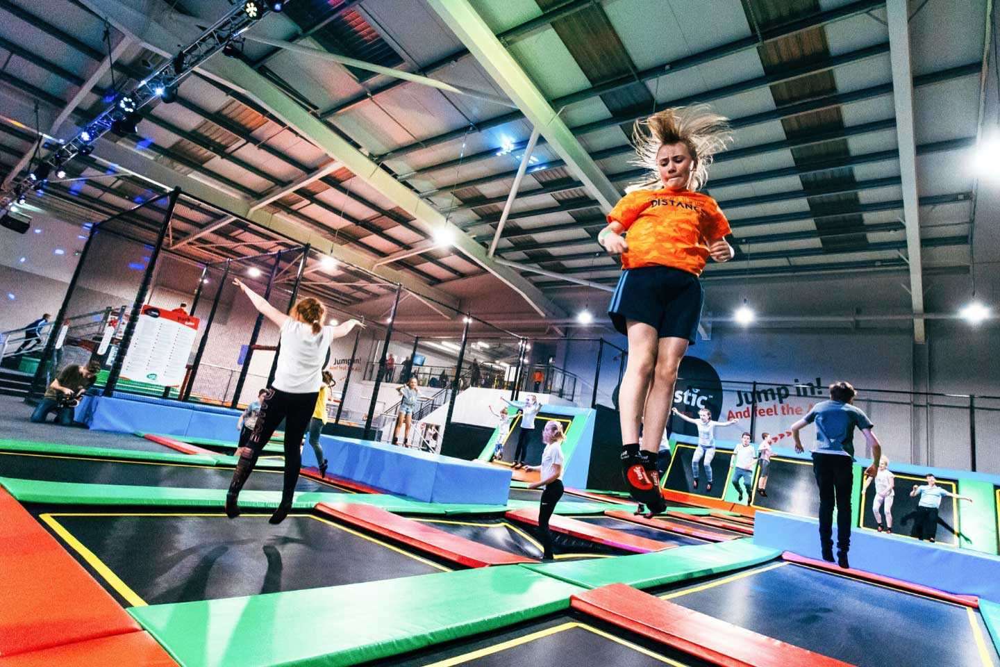 People jumping at Airtastic Trampoline Park