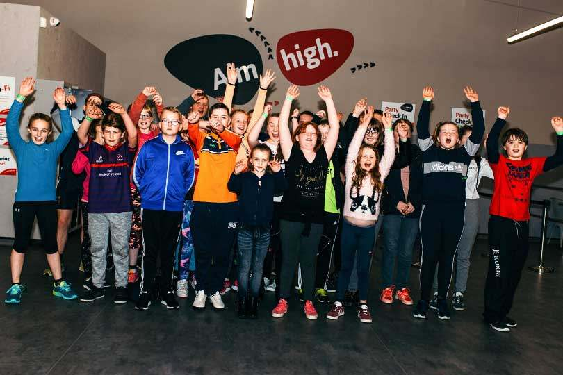 Group of Kids jumping in the air at Airtastic Entertainment Centres