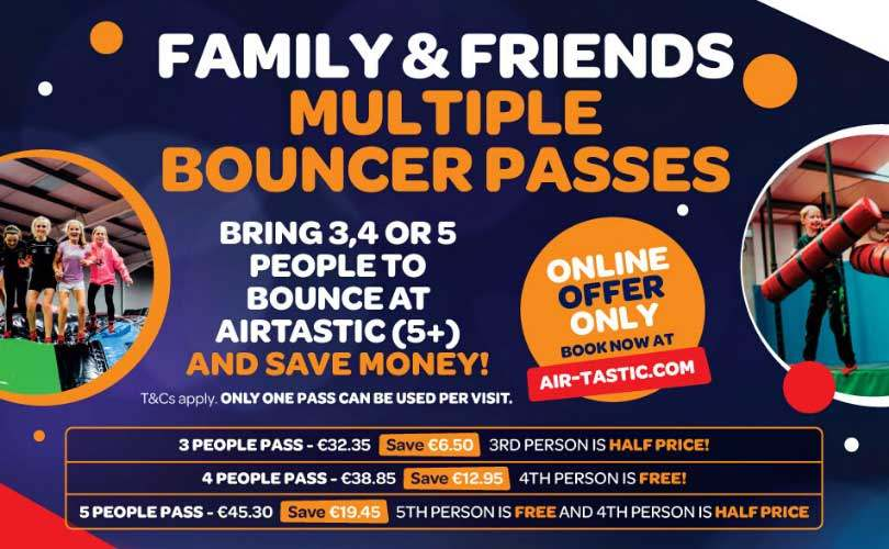 Airtastic Ireland Multi Bouncer Pass Info