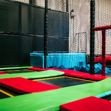 small square trampolines