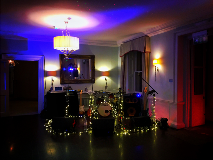 AKA's 5 Piece Band with Saxophone set up in the main house at Morden Hall