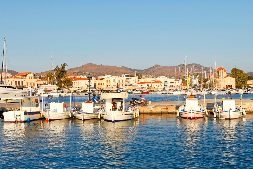 The port of Aegina