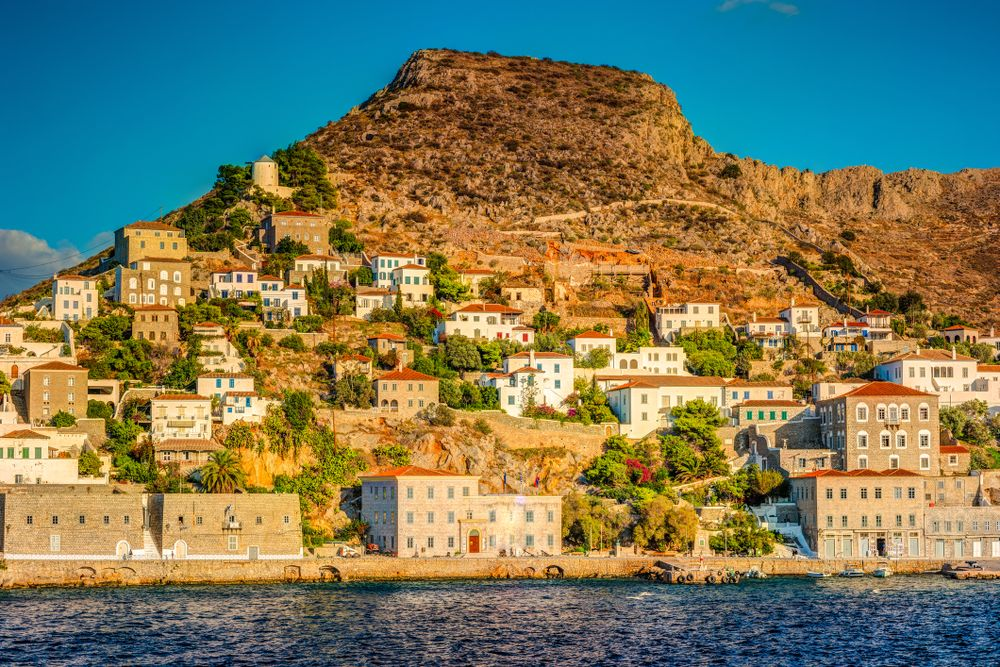 Hydra island on a day time