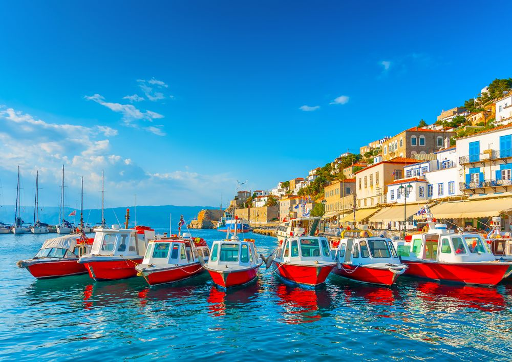 Taxi boats on Hydra