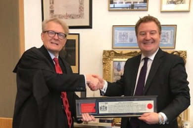 Jason Barnsdale receives freedom of the City of London