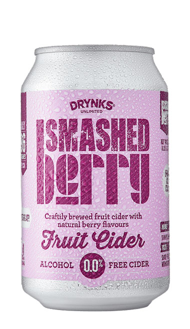 SMASHED Berry Cider - 330ml can : SMASHED Berry Cider