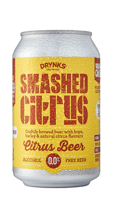 SMASHED Citrus Lager - 330ml can : SMASHED Citrus Lager