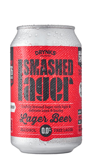 SMASHED Lager - 330ml can : SMASHED Lager