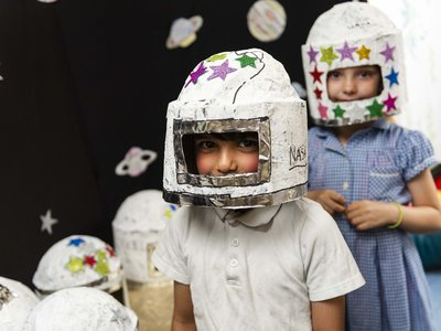 Randal Cremer_children dressed as spacemen portrait