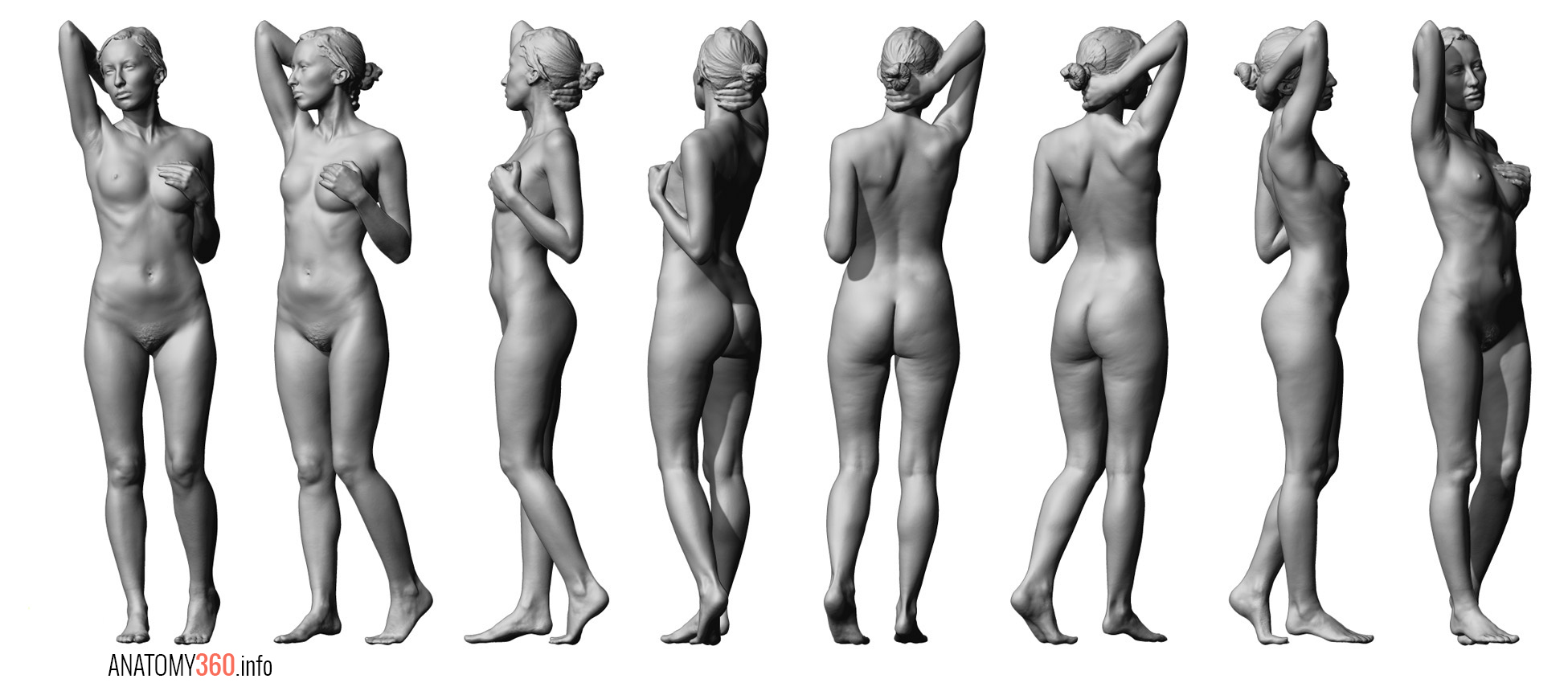 Nude body scanner images