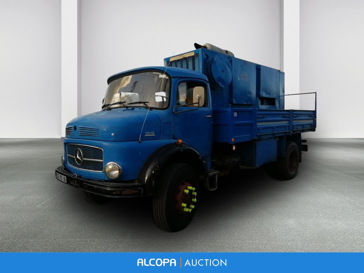 Mercedes Camion 1513 4x4 Plateau Avec Groupe Electrogene Alcopa Auction