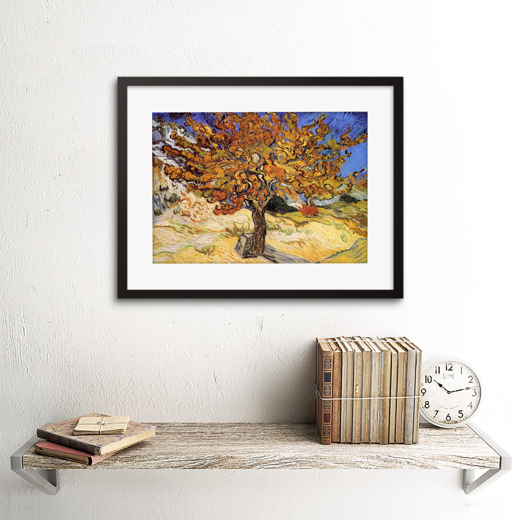 thumbnail 3 - Van-Gogh-Mulberry-Tree-1889-Old-Master-Framed-Wall-Art-Print