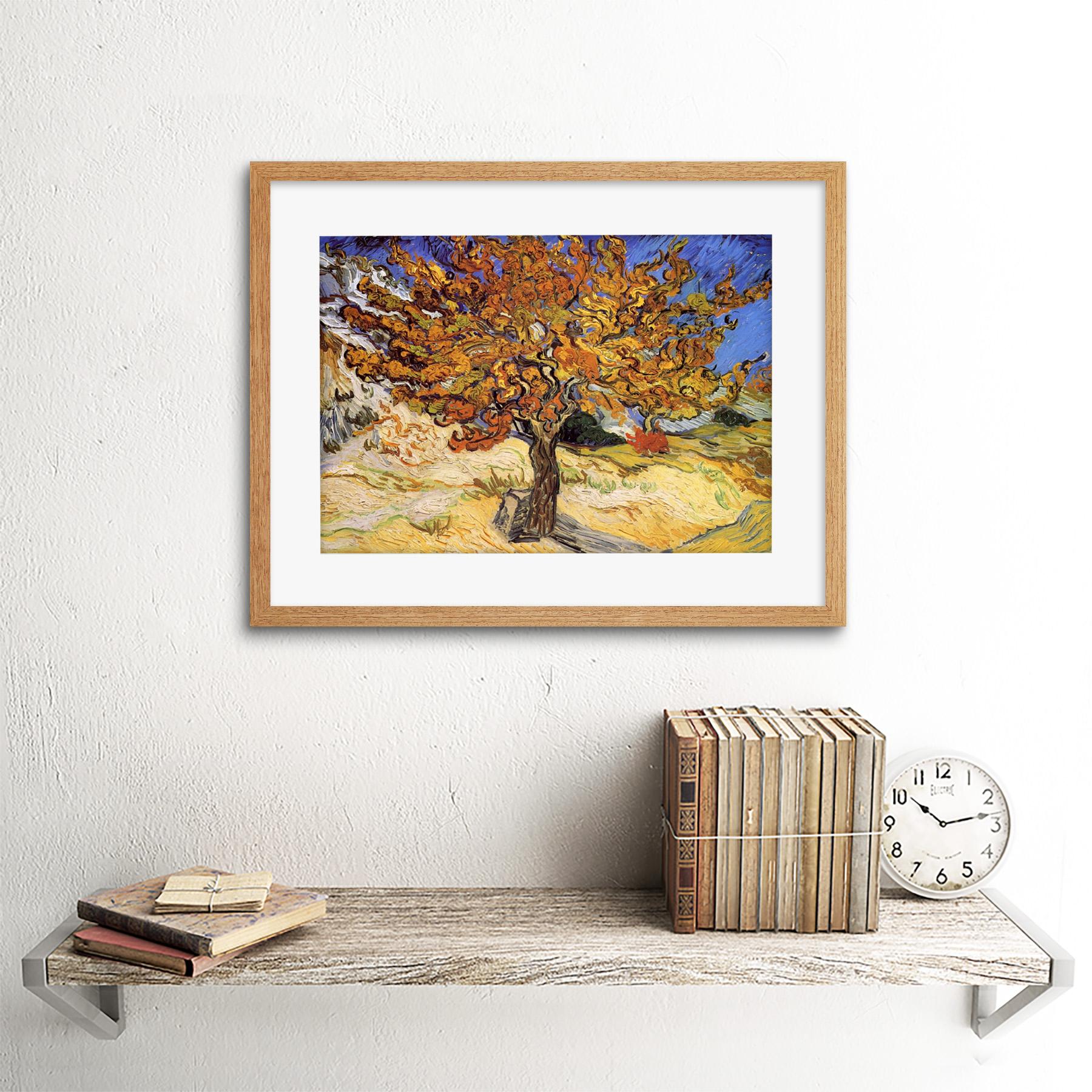 thumbnail 11 - Van-Gogh-Mulberry-Tree-1889-Old-Master-Framed-Wall-Art-Print