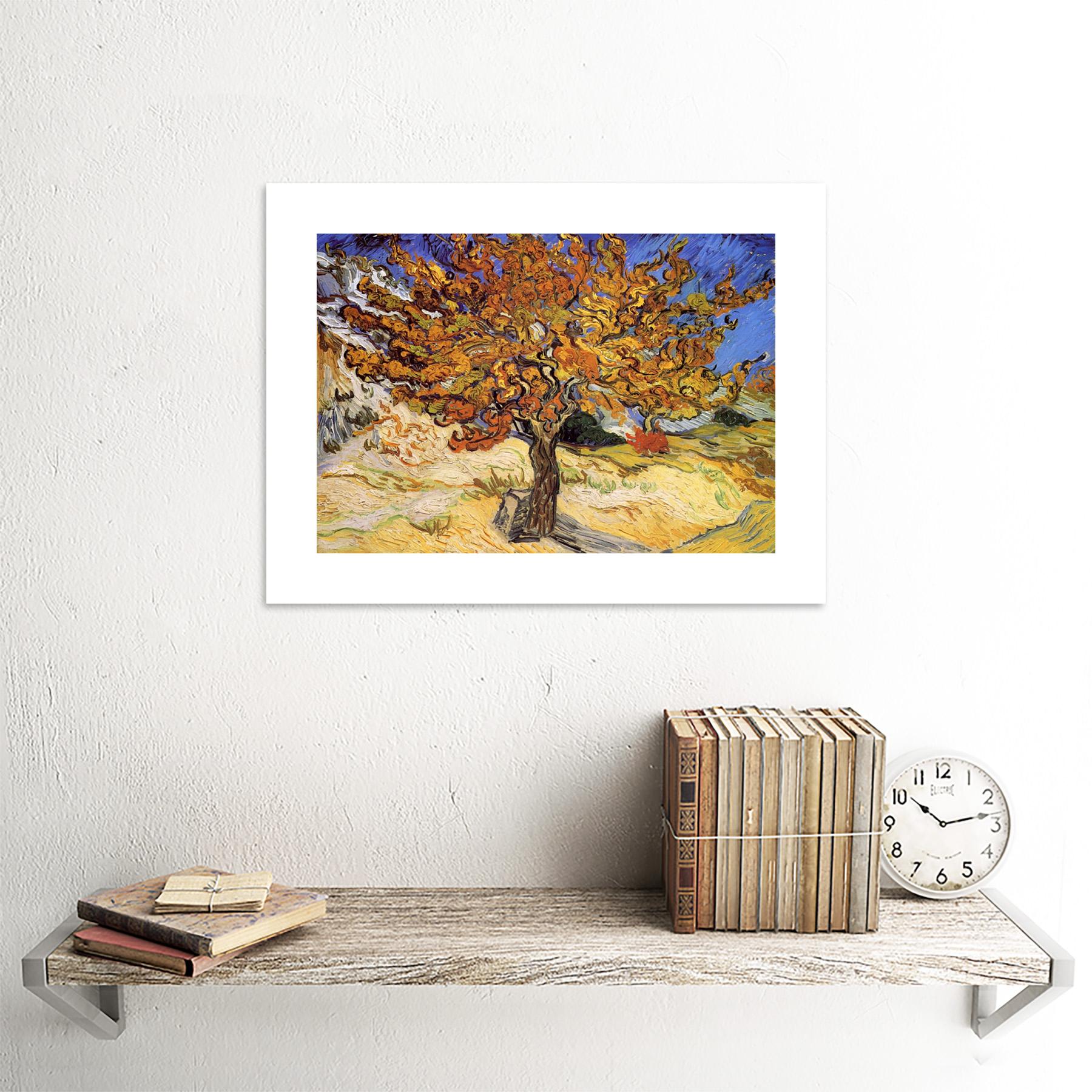 thumbnail 15 - Van-Gogh-Mulberry-Tree-1889-Old-Master-Framed-Wall-Art-Print