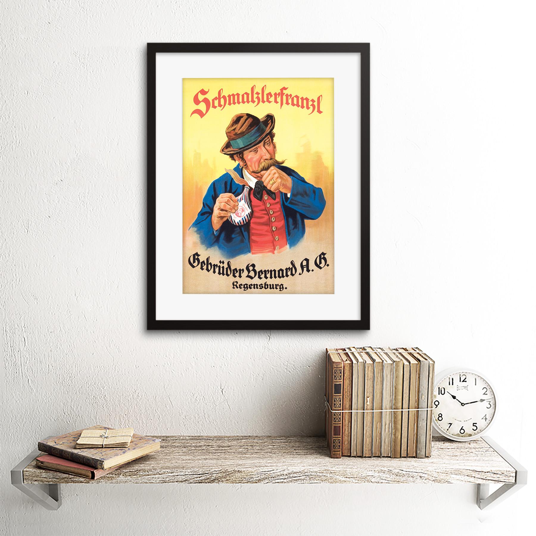 miniature 3 - Advertisement German Moustache Schmalzlerfranzl Snuff Framed Wall Art Print