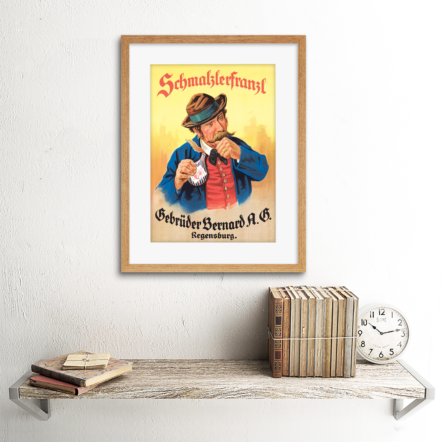 miniature 11 - Advertisement German Moustache Schmalzlerfranzl Snuff Framed Wall Art Print