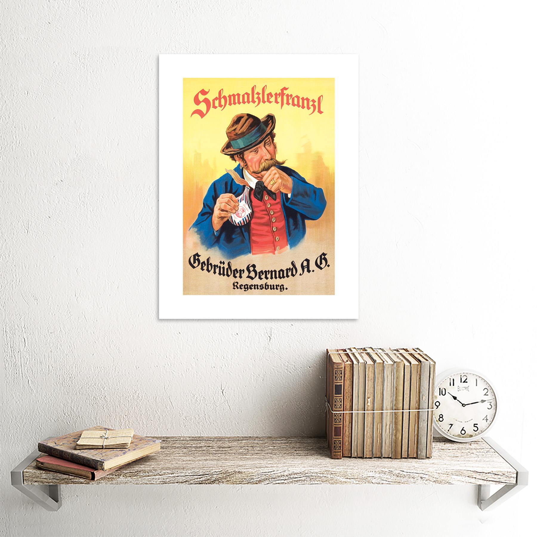 miniature 15 - Advertisement German Moustache Schmalzlerfranzl Snuff Framed Wall Art Print