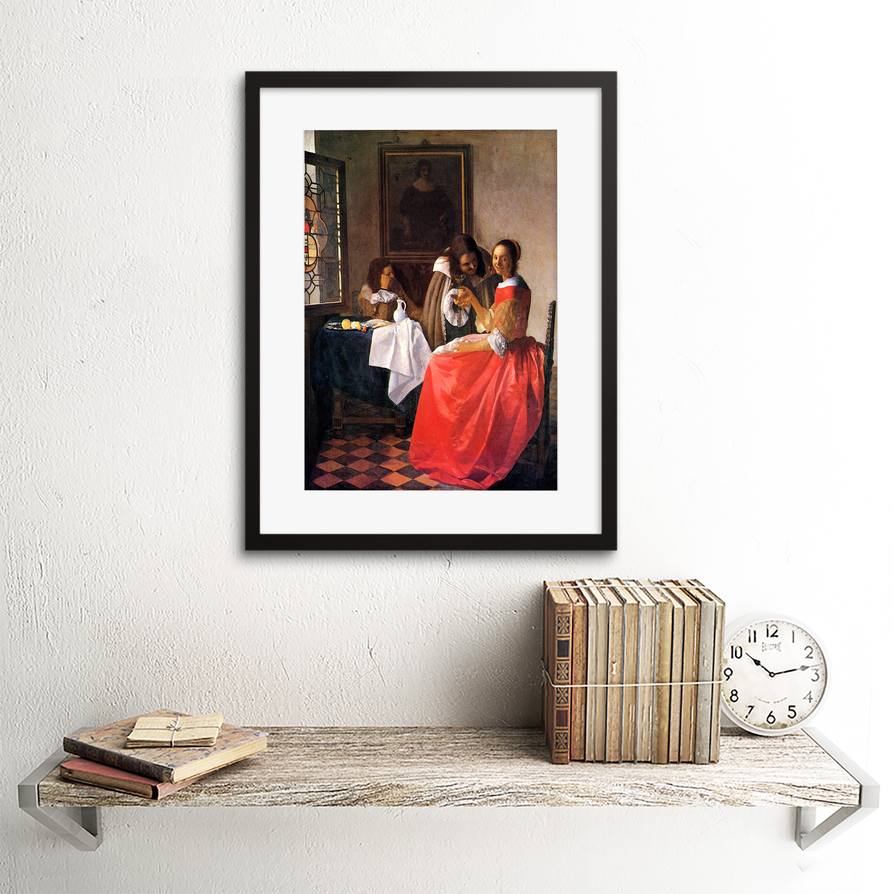 miniature 3 - Vermeer Girl With A Wine Glass Old Master Framed Wall Art Print