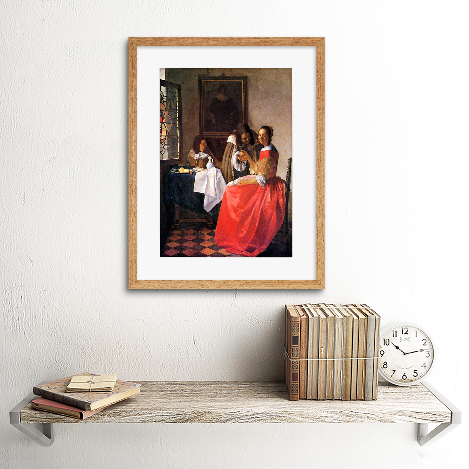 miniature 8 - Vermeer Girl With A Wine Glass Old Master Framed Wall Art Print
