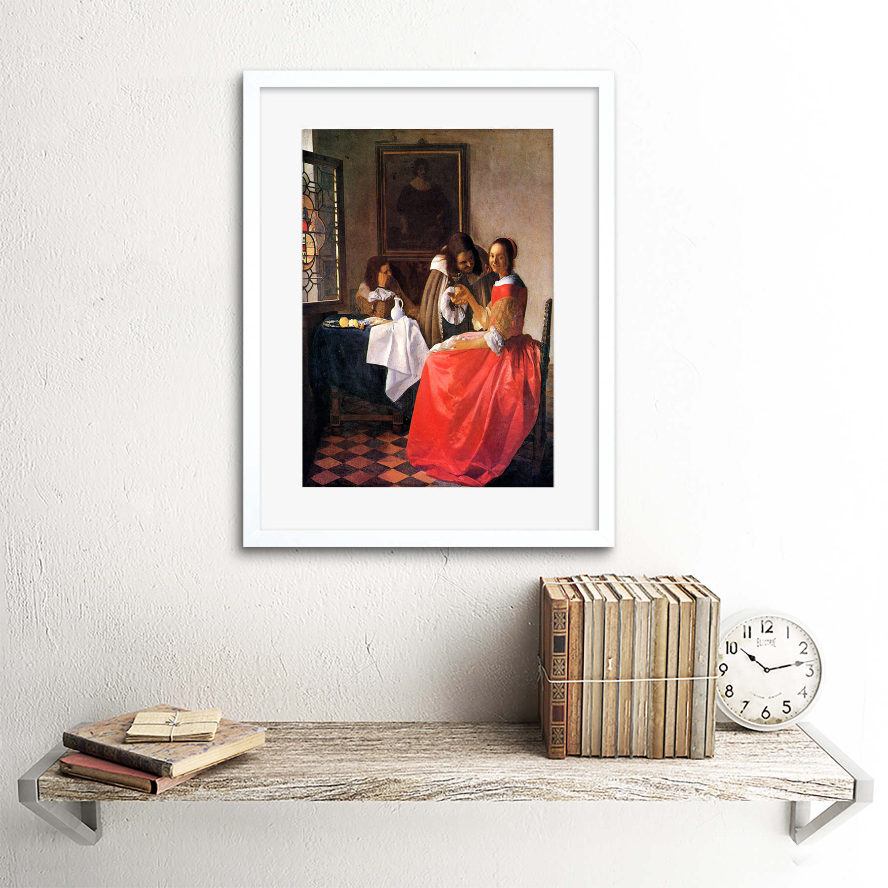 miniature 13 - Vermeer Girl With A Wine Glass Old Master Framed Wall Art Print