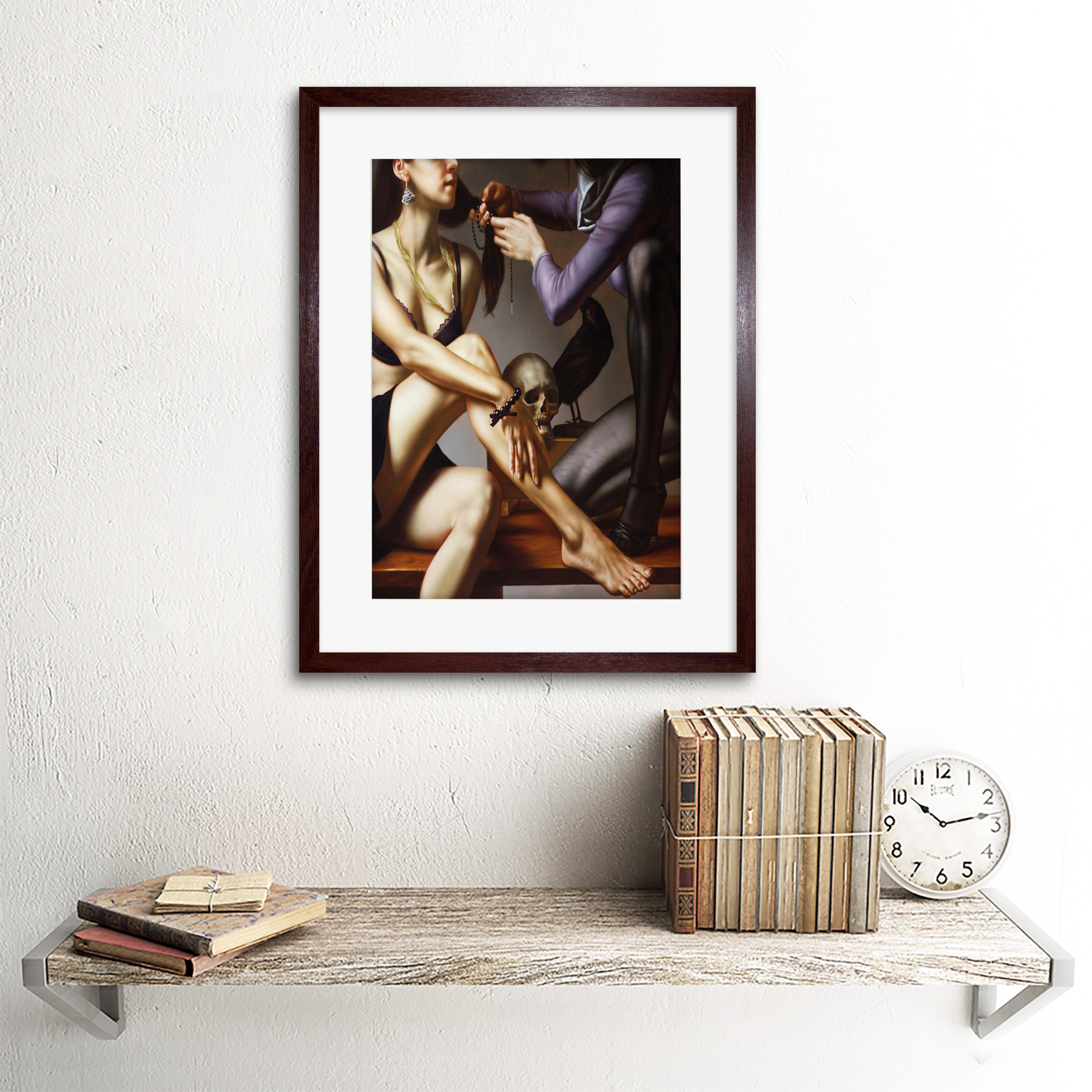 Painting-Balcar-Entering-Renaissance-Framed-Art-Print-12x16-Inch 縮圖 8