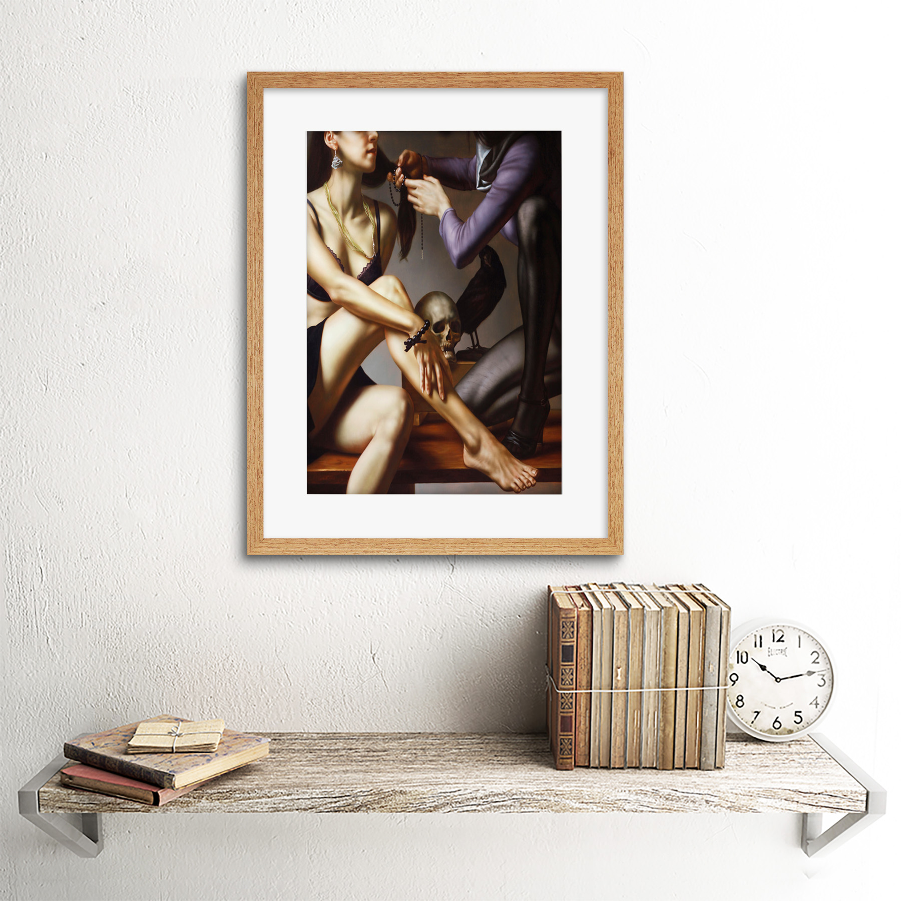 Painting-Balcar-Entering-Renaissance-Framed-Art-Print-12x16-Inch 縮圖 13