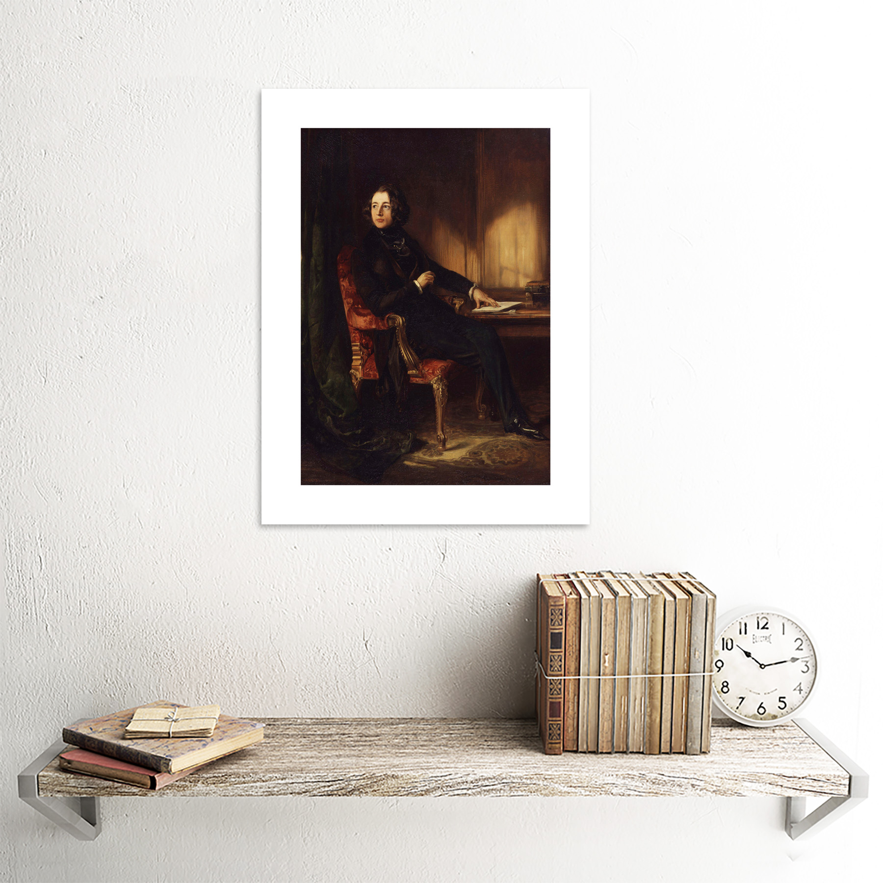 """PAINTING MACLISE AUTHOR CHARLES DICKENS 12x16 /"""" POSTER ART PRINT HP3354"""