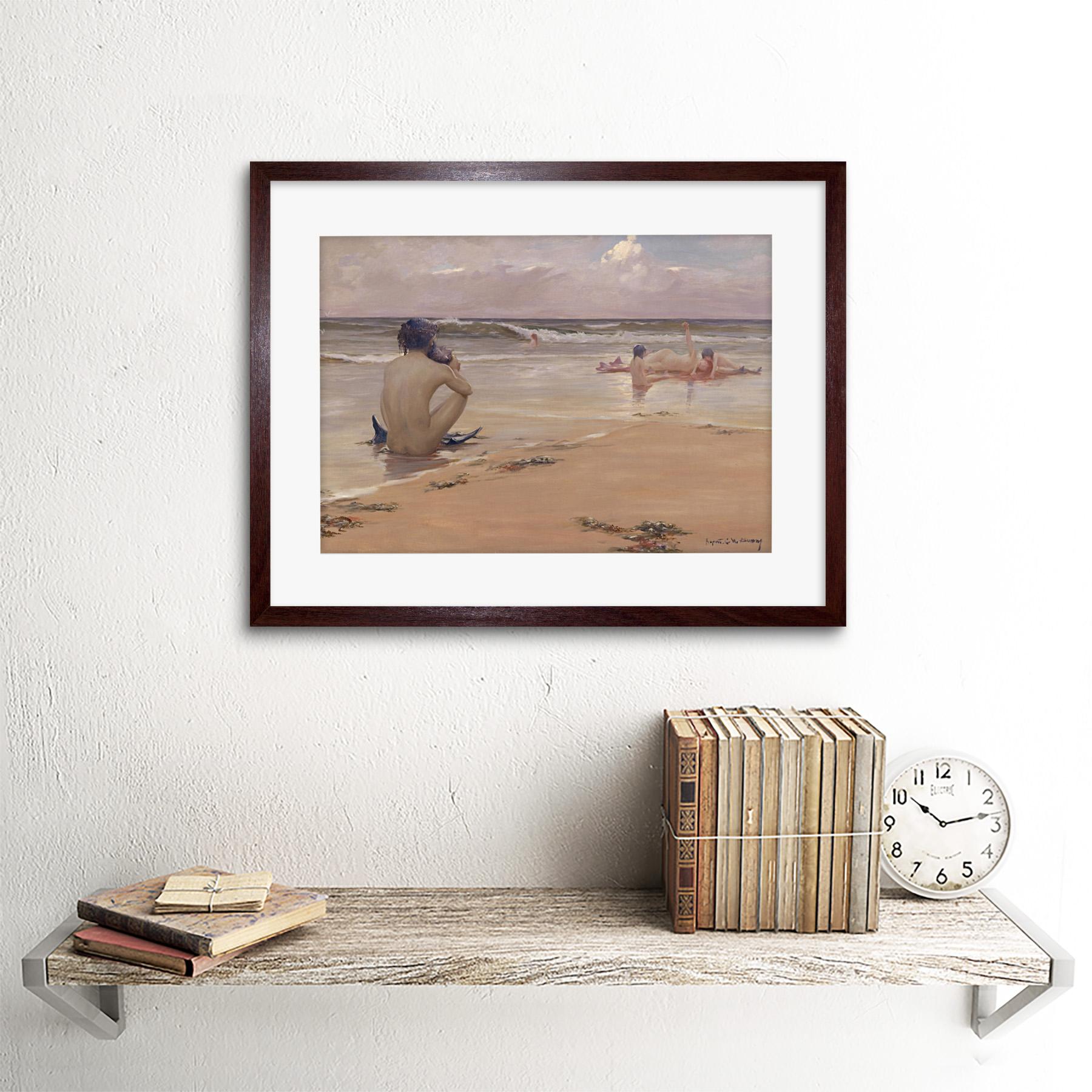 thumbnail 8 - Rupert Bunny Sea Idyll 1891 Old Painting Framed Art Print 12x16 Inch