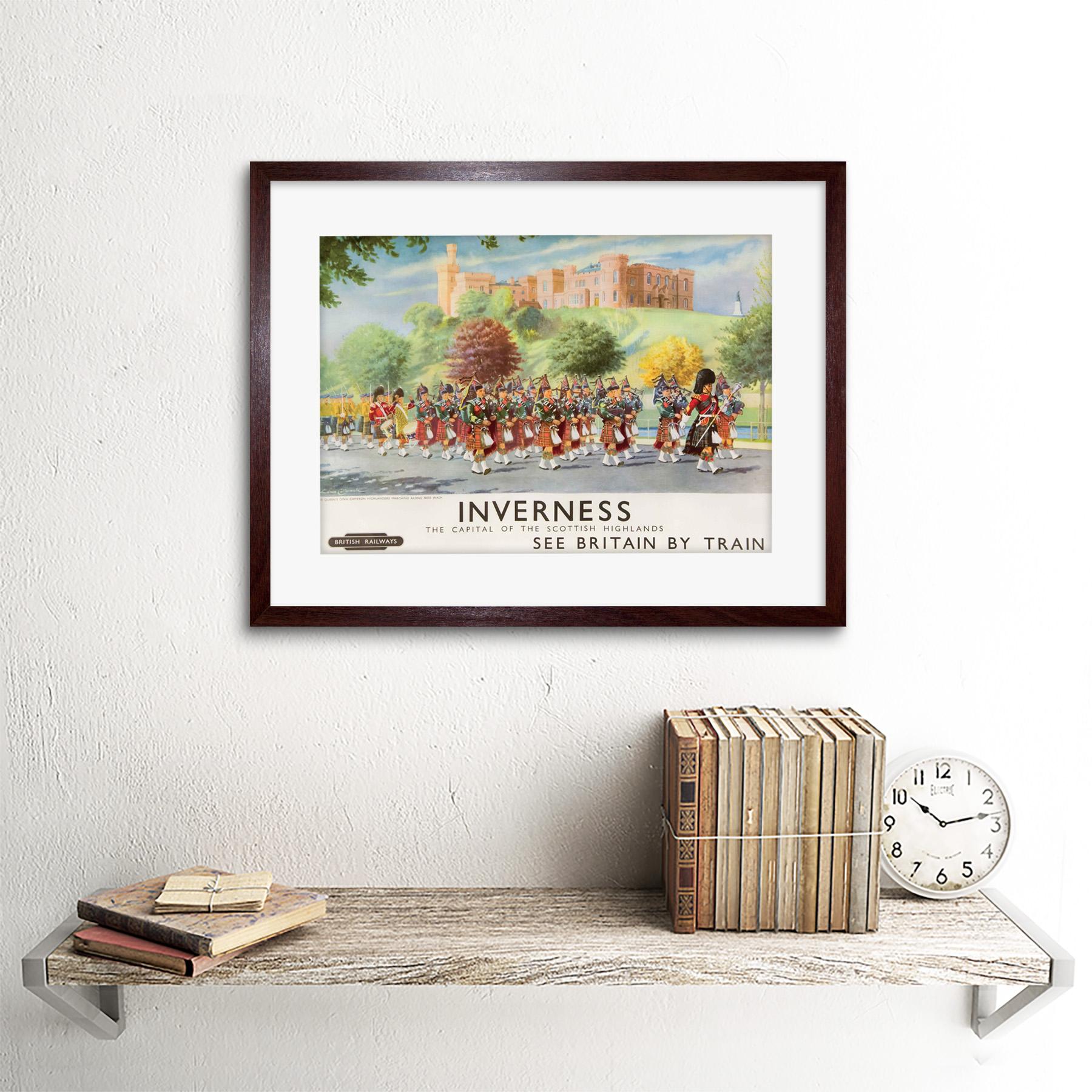 thumbnail 8 - Travel-Inverness-British-Railways-Scotland-Highlanders-Framed-Art-Print-12x16-034