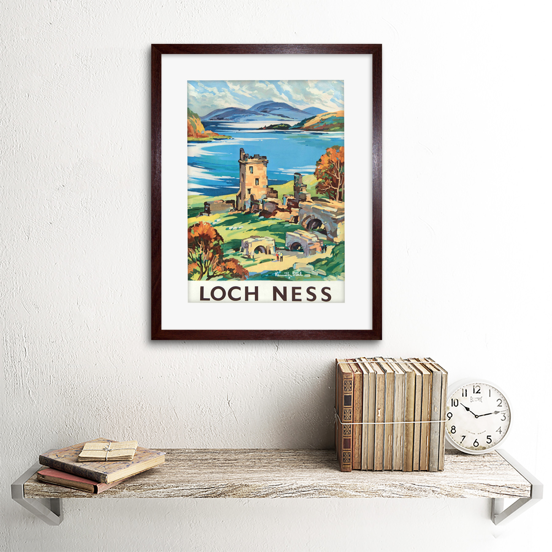 thumbnail 8 - Travel-Scotland-Castle-Loch-Ness-British-Railways-Framed-Art-Print-12x16-Inch