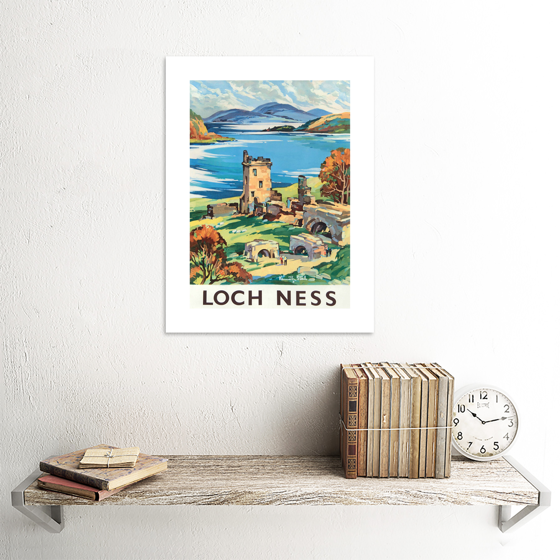 thumbnail 18 - Travel-Scotland-Castle-Loch-Ness-British-Railways-Framed-Art-Print-12x16-Inch