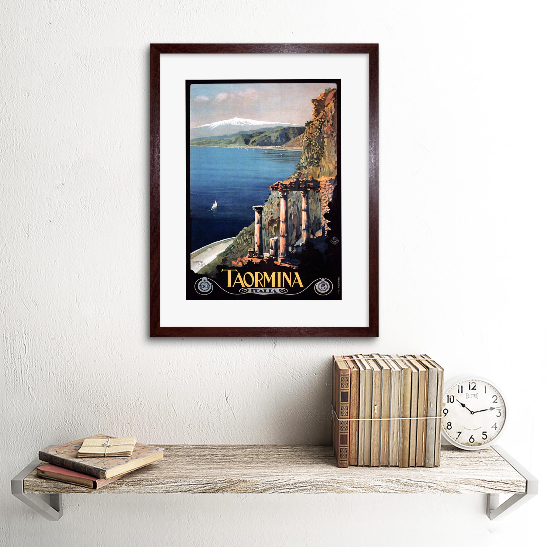 thumbnail 8 - Travel Taormina Sicily Etna Greek Theatre Italy Framed Art Print 12x16 Inch