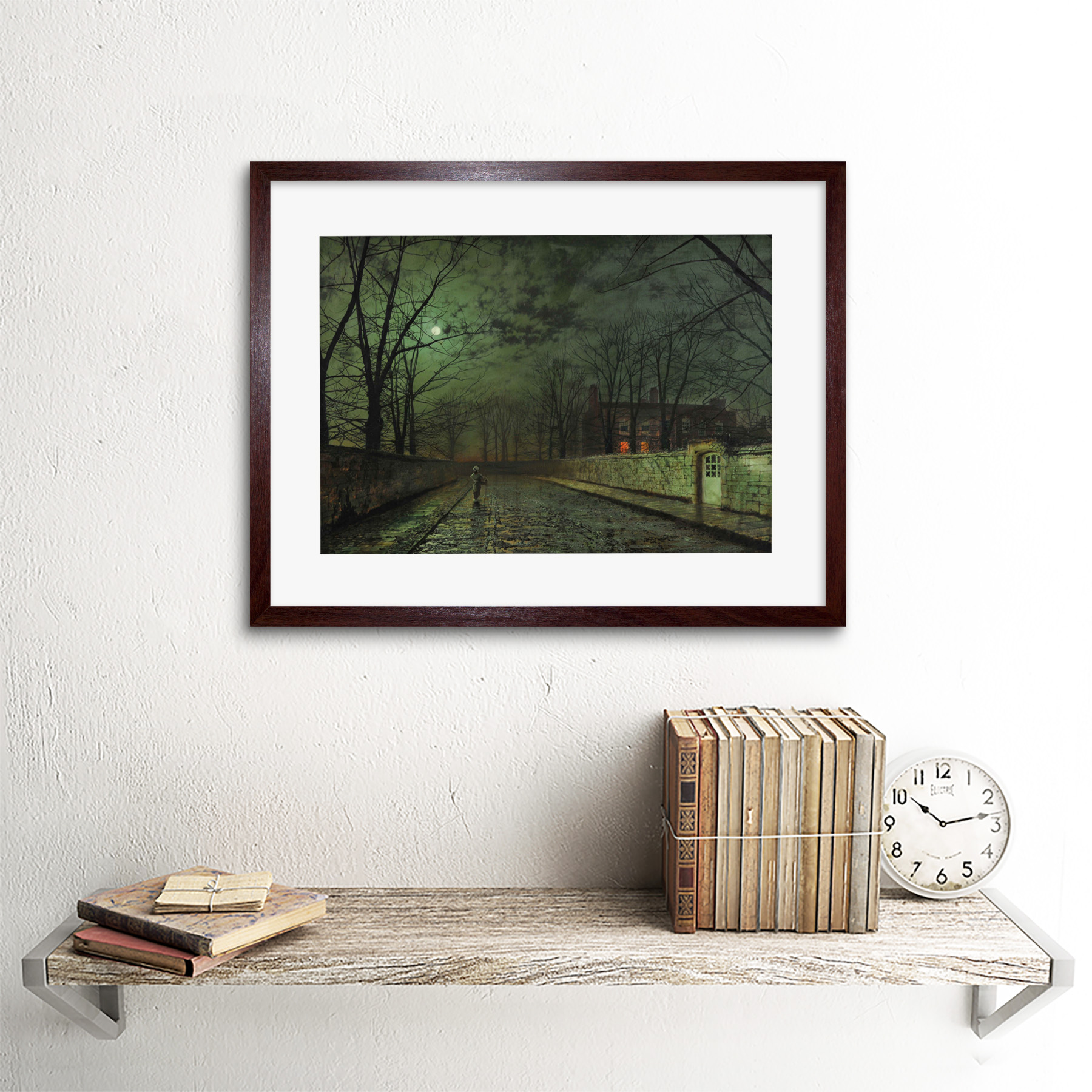 thumbnail 8 - Grimshaw-Moonlit-Street-Painting-Framed-Art-Print-Picture-Mount-12x16-Inch