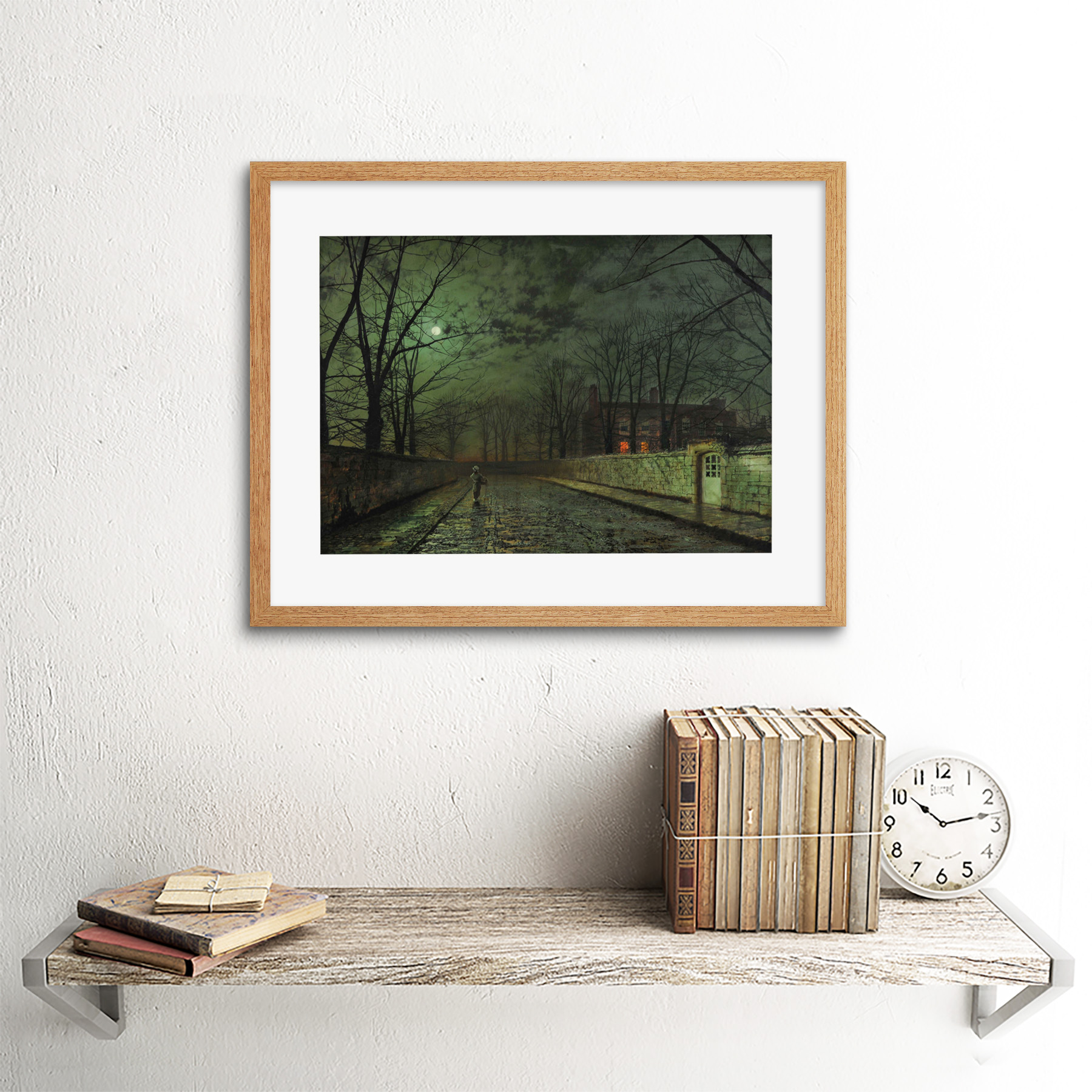 thumbnail 13 - Grimshaw-Moonlit-Street-Painting-Framed-Art-Print-Picture-Mount-12x16-Inch