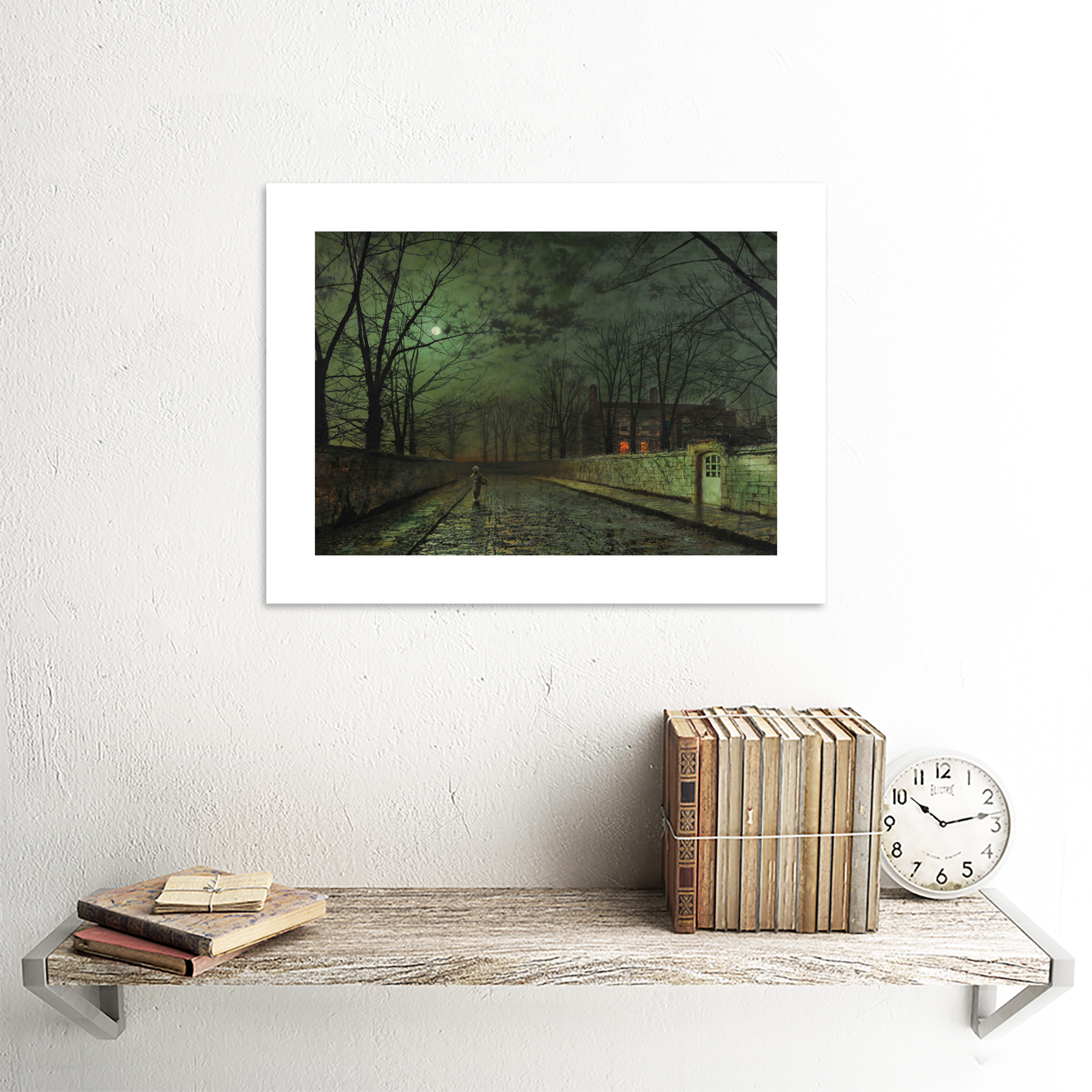 thumbnail 18 - Grimshaw-Moonlit-Street-Painting-Framed-Art-Print-Picture-Mount-12x16-Inch