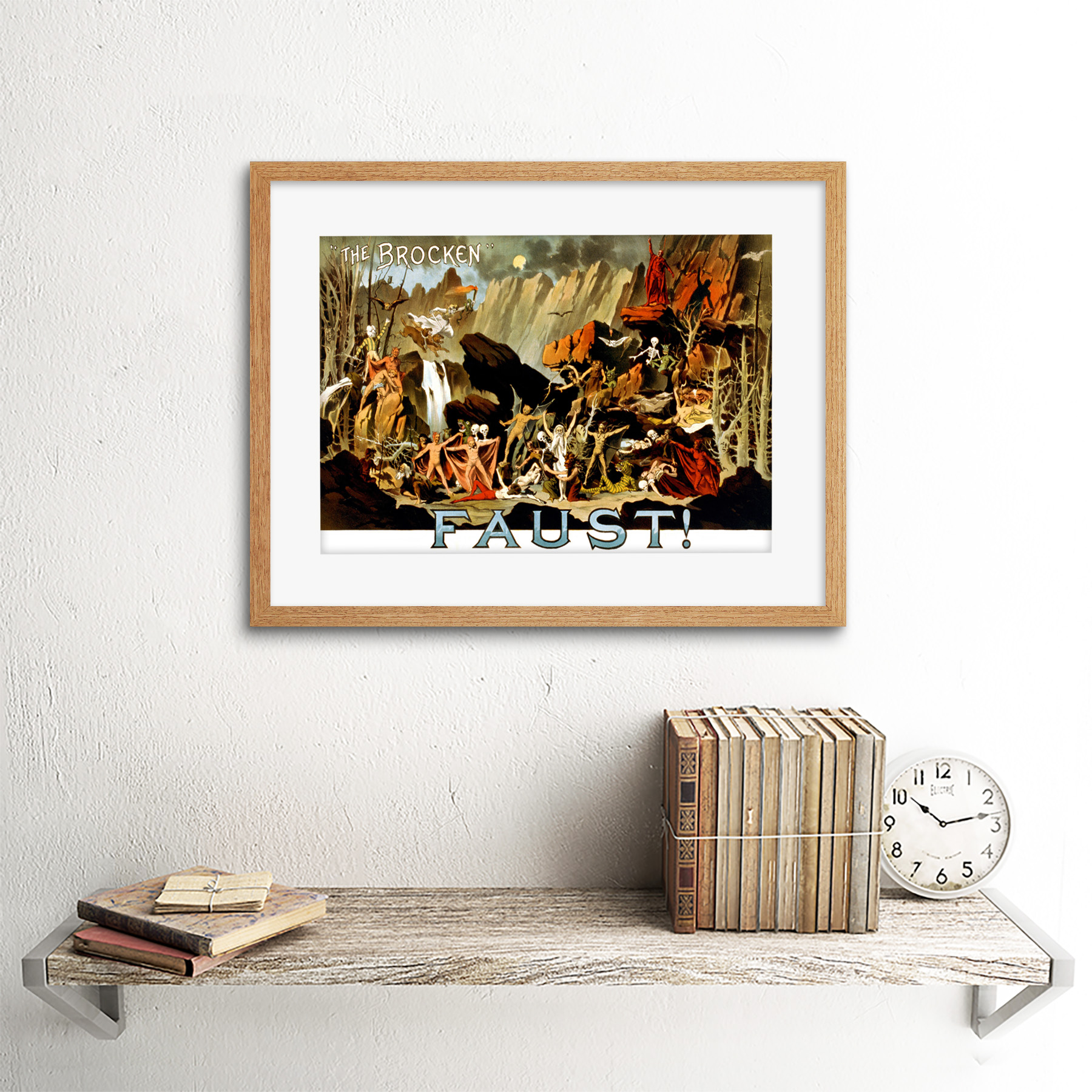 Vintage Advert Theatre Stage Production Faust 12X16 Inch Framed Art Print